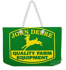John Deere Farm Equipment Sign Weekender Tote Bag by Randy Steele
