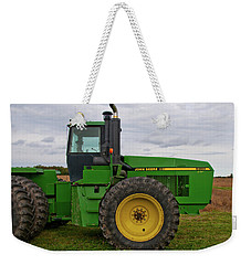 Weekender Tote Bag featuring the photograph John Deere Green 3159 by Guy Whiteley