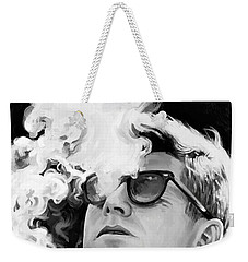 Weekender Tote Bag featuring the painting John F. Kennedy Artwork 1 by Sheraz A