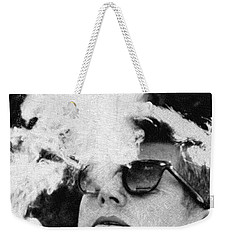John F Kennedy Cigar And Sunglasses Black And White Weekender Tote Bag