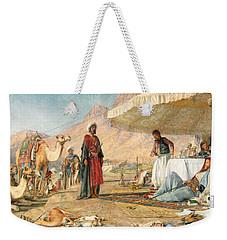 Weekender Tote Bag featuring the photograph John Frederick Lewis Mount Sinai 1842 by Munir Alawi