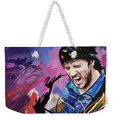 Weekender Tote Bag featuring the painting John Frusciante by Richard Day