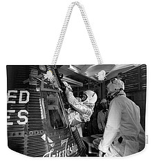 John Glenn Entering Friendship 7 Spacecraft Weekender Tote Bag by War Is Hell Store