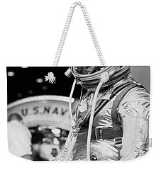 John Glenn Wearing A Space Suit Weekender Tote Bag by War Is Hell Store