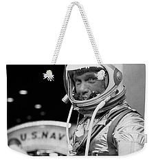 John Glenn Wearing A Space Suit Weekender Tote Bag