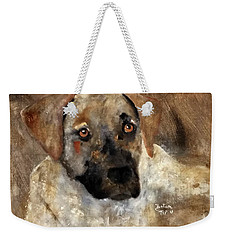Weekender Tote Bag featuring the painting John Henry by Barbie Batson