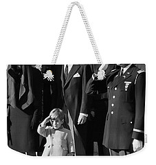 John Kennedy Jr Salute To Father Weekender Tote Bag