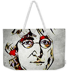 Weekender Tote Bag featuring the mixed media John Lennon by Lita Kelley
