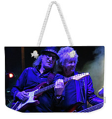 Weekender Tote Bag featuring the photograph John Lodge At Fergs by Melinda Saminski