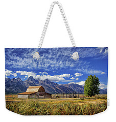 John Moulton Barn In The Tetons Weekender Tote Bag