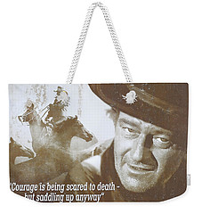 John Wayne - The Duke Weekender Tote Bag by Donna Kennedy