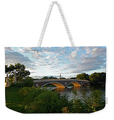 John Weeks Bridge In Harvard Square Cambridge Weekender Tote Bag