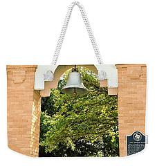Weekender Tote Bag featuring the photograph John Wheeler Bunton Historic Memorial by Ray Shrewsberry