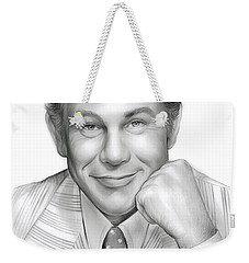 Johnny Carson Weekender Tote Bag by Greg Joens