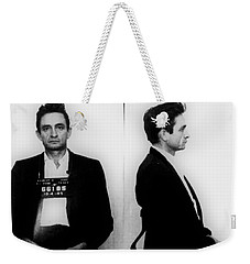Johnny Cash Mug Shot Horizontal Weekender Tote Bag