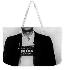 Johnny Cash Mug Shot Vertical Weekender Tote Bag
