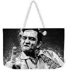 Johnny Cash Weekender Tote Bag by Taylan Apukovska