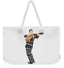 Johnny Cash Typography Art Weekender Tote Bag