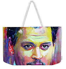 Johnny Depp Colors Portrait Weekender Tote Bag