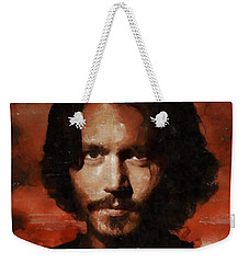 Johnny Depp, Hollywood Legend By Mary Bassett Weekender Tote Bag by Mary Bassett
