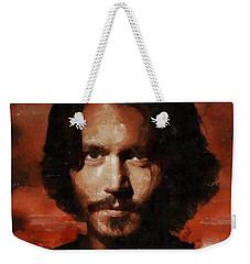 Johnny Depp, Hollywood Legend By Mary Bassett Weekender Tote Bag