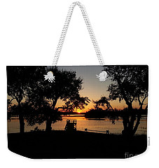 Weekender Tote Bag featuring the photograph Johns Island Sunset by Robert Knight