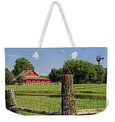 Weekender Tote Bag featuring the photograph Johnson County Farm by Christopher McKenzie