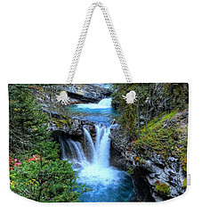 Johnston Canyon Falls Hike Lower Falls Weekender Tote Bag