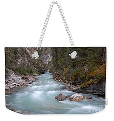 Weekender Tote Bag featuring the photograph Johnston Canyon In Banff National Park by RicardMN Photography