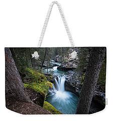 Johnston Canyon Waterfall Weekender Tote Bag