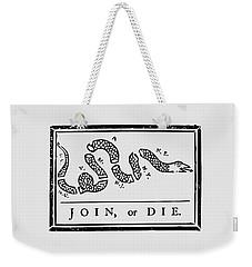 Join Or Die Weekender Tote Bag