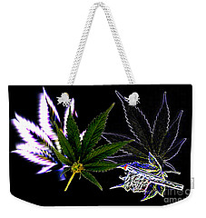 Weekender Tote Bag featuring the digital art Joint Venture by Jacqueline Lloyd
