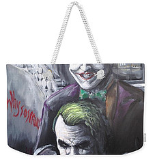 Jokery In Wayne Manor Weekender Tote Bag by Tyler Haddox