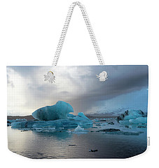 Weekender Tote Bag featuring the photograph Jokulsarlon, The Glacier Lagoon, Iceland 4 by Dubi Roman