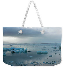 Weekender Tote Bag featuring the photograph Jokulsarlon, The Glacier Lagoon, Iceland 1 by Dubi Roman