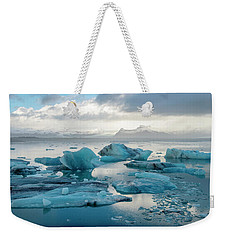 Weekender Tote Bag featuring the photograph Jokulsarlon, The Glacier Lagoon, Iceland 6 by Dubi Roman