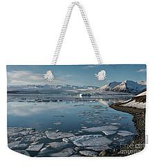 Weekender Tote Bag featuring the photograph Jokulsarlon Ice Lagoon - Iceland by Sandra Bronstein