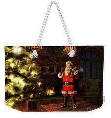 Weekender Tote Bag featuring the painting Jolly Old St. Nicholas by Dave Luebbert