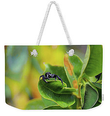 Weekender Tote Bag featuring the photograph Jolly Roger by John Kolenberg