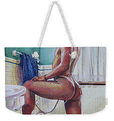 Jon In The Bathtub Weekender Tote Bag