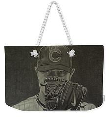 Jon Lester Portrait Weekender Tote Bag