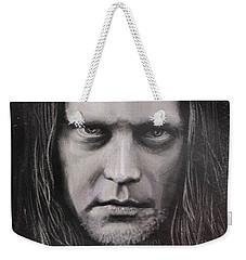 Weekender Tote Bag featuring the drawing Jonas P Renkse Musician From Katatonia Band By Julia Art by Julia Art