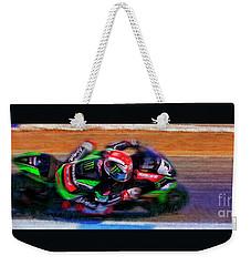 Jonathan Rea On His Way 2016 Kawasaki Weekender Tote Bag