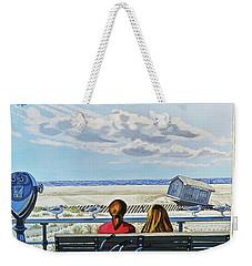 Jones Beach Boardwalk Towel Version Weekender Tote Bag