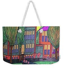 Weekender Tote Bag featuring the drawing Jordan College West Drive Menominee by Jonathon Hansen