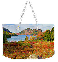 Weekender Tote Bag featuring the photograph Jordan Pond 2 by Arthur Dodd