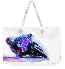 Jorge Lorenzo Yamaha Weekender Tote Bag