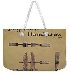 Weekender Tote Bag featuring the photograph Jorgensen Handscrew by Tom Mc Nemar