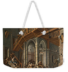 Joseph Interprets The Dreams Of The Pharaoh's Servants Whilts In Jail Weekender Tote Bag by Alessandro Magnasco
