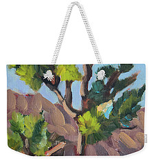 Weekender Tote Bag featuring the painting Joshua At Keys Ranch by Diane McClary